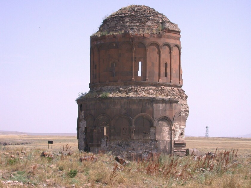 The Turkisk city of Ani sits on the border with Armenia.