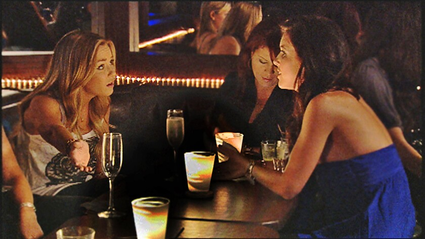 ET–HillsStill––Production still from MTV's reality show The Hills where Lauren Conrad, left, and Aud