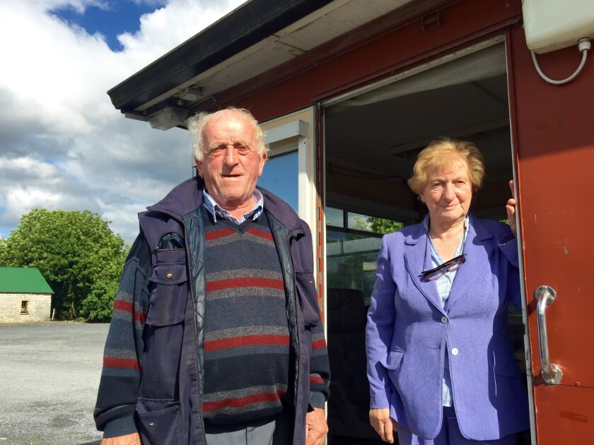 Tom Conlon and his wife, Bridie, own 60 acres of land straddling the border.
