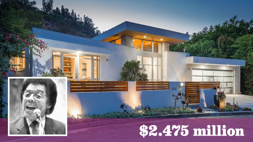 """O.C. Smith, who died in 2001, used the royalties from his rendition of """"Little Green Apples"""" to buy this Beverly Hills home, now up for sale at $2.475 million."""