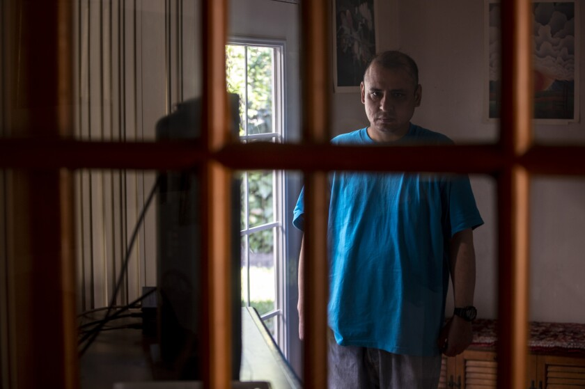 Louie Villalva has been a resident of the Blake Home in Sylmar for more than eight years. Funding problems could cause the board-and-care home to close.