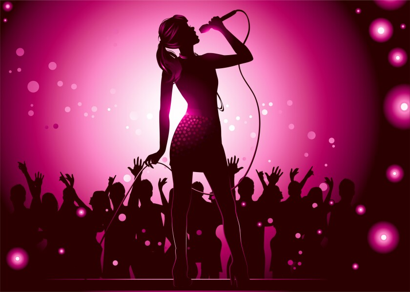 singer clip art
