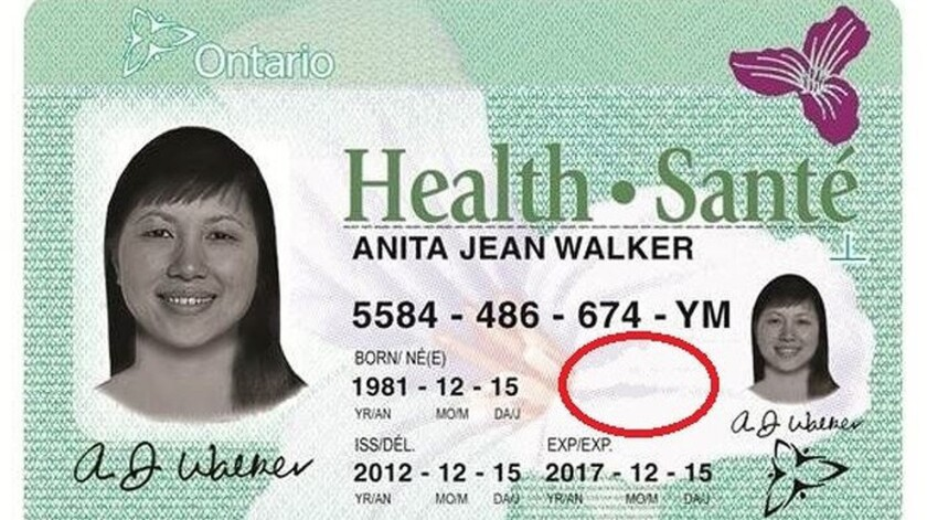 Renderings of Ontario's new health card, which no longer shows a person's sex. Driver's licenses will soon allow a person to put an 'X' for their gender.