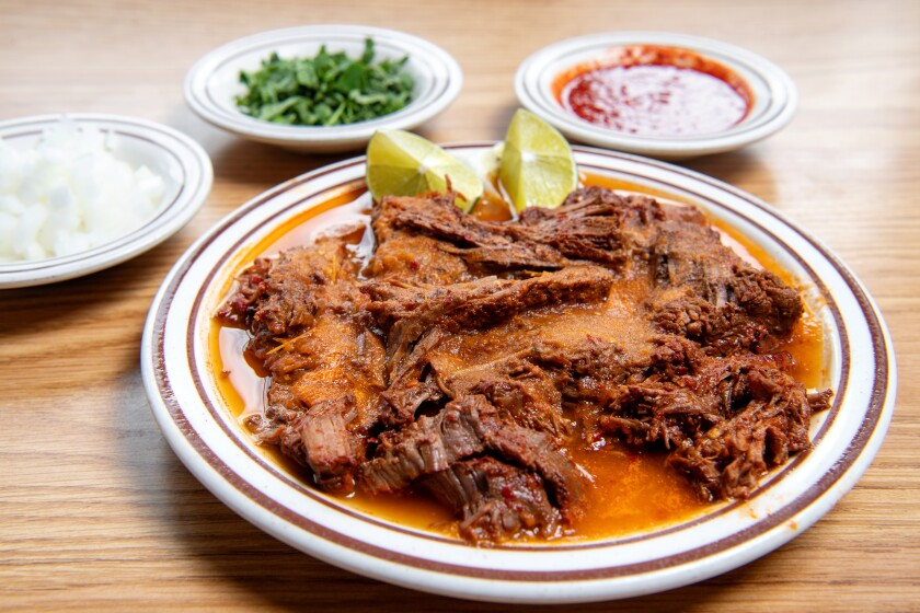 Zacatecas-style birria de res makes a rare appearance at Zacatecas Restaurant in Hawthorne.(