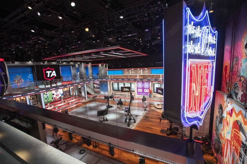 Studio 1 (one of five stages) features a 360-degree experience at NFL in Inglewood.