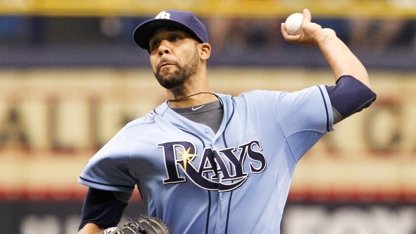 Tampa Bay Rays starter David Price delivers a pitch during a game against the Pittsburgh Pirates. The Dodgers probably aren't willing to part with the prospects it would take to acquire Price.