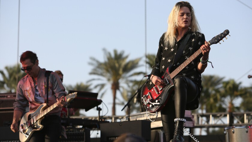 Jamie Hince, left, and Alison Mosshart of the Kills perform at Coachella in April.