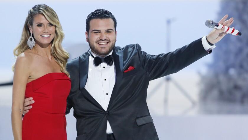 """Keidi Klum and Sal Valentinetti """"America's Got Talent: A Holiday of Champions"""" on NBC."""