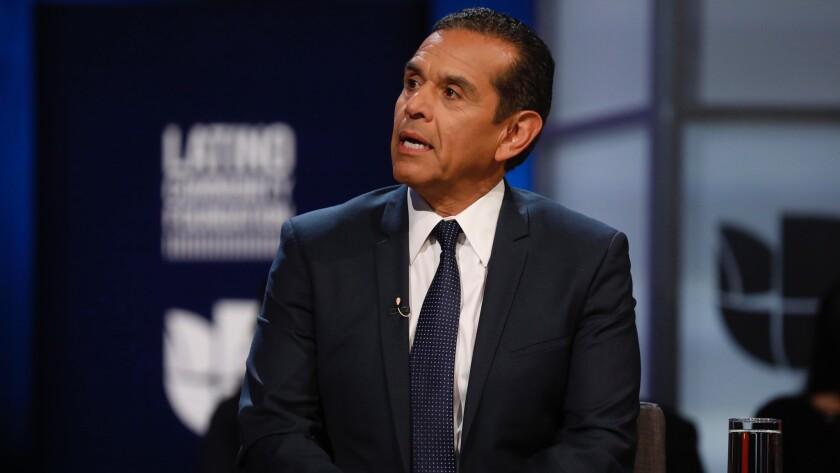 WESTWOOD, CA - JANAUARY 25, 2018 - California gubernatorial candidate and former mayor of Los Angele