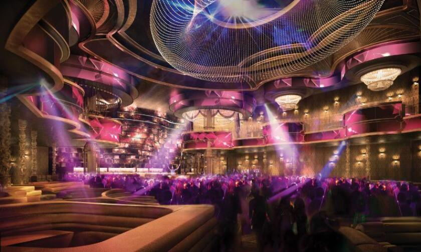 A rendering of the main room at Omnia nightclub, which is set to open this spring at Caesars Palace Las Vegas.