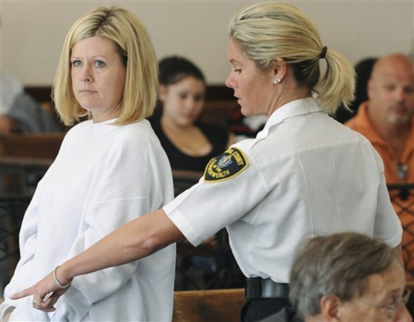 Kristen LaBrie, who is accused of withholding cancer treatment from her autistic son, is seen before her arraignment in Salem Superior Court, Monday, July 6, 2009 in Salem, Mass. (AP Photo/Lisa Poole, Pool)