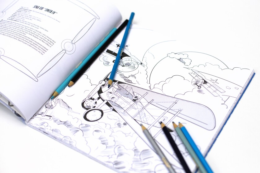 San Diego's IDW Publishing has partnered with the Smithsonian Institution to produce a new line of coloring books.