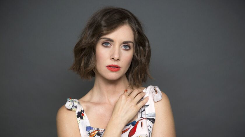 BEVERLY HILLS, CA - JUNE 14, 2017 - Actress Alison Brie, photographed at the Four Seasons hotel, Jun