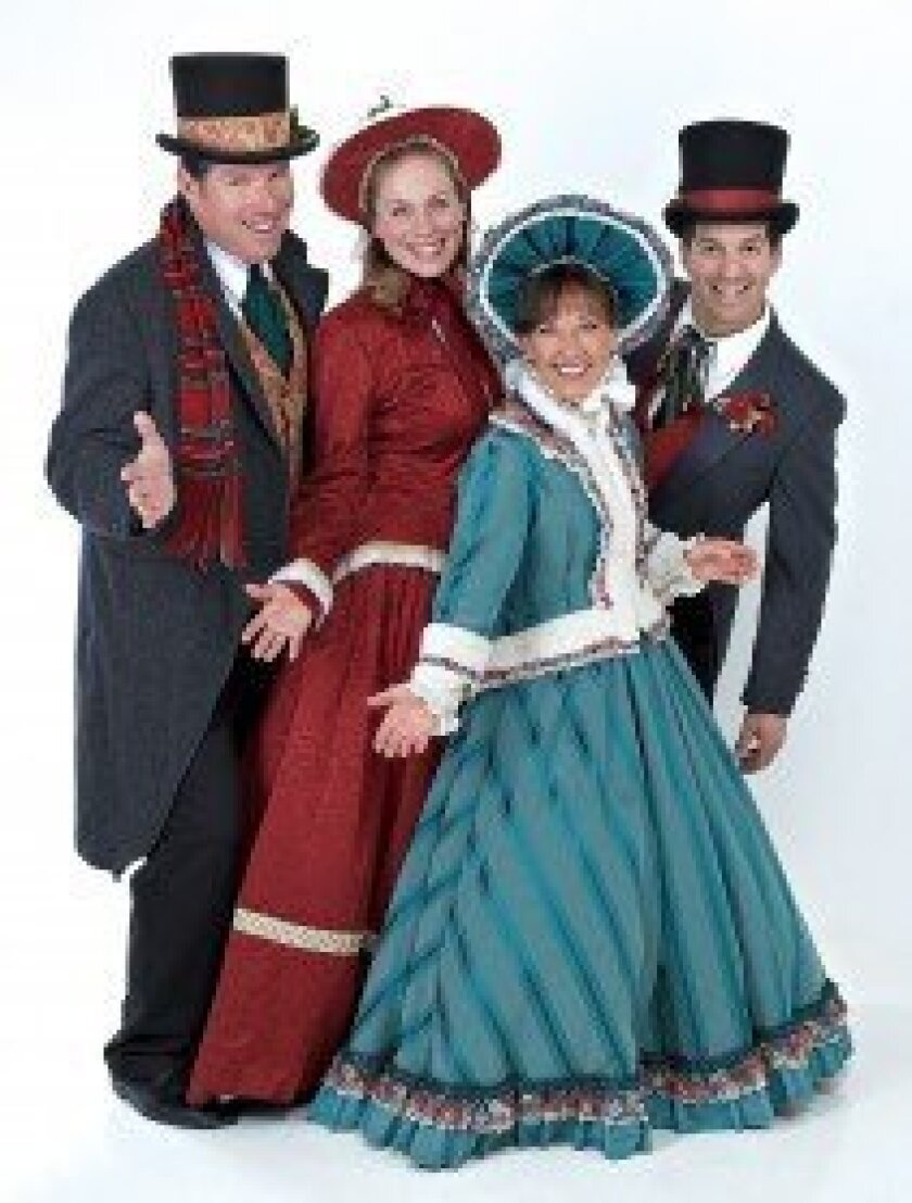 Full Measure Carolers will be featured at the Dec. 4 Holiday Open House Celebration in the village of Rancho Santa Fe.