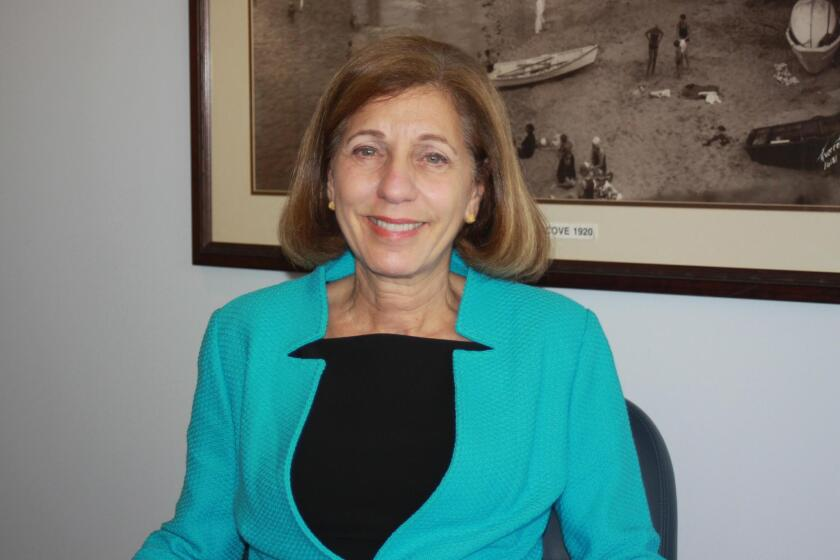 Barbara Bry during an interview with La Jolla Light