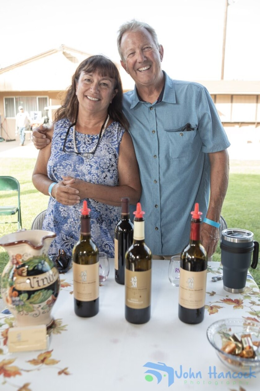Virginia and Gary Boney of Rancho San Martin Winery at Cheers to the Valley event.