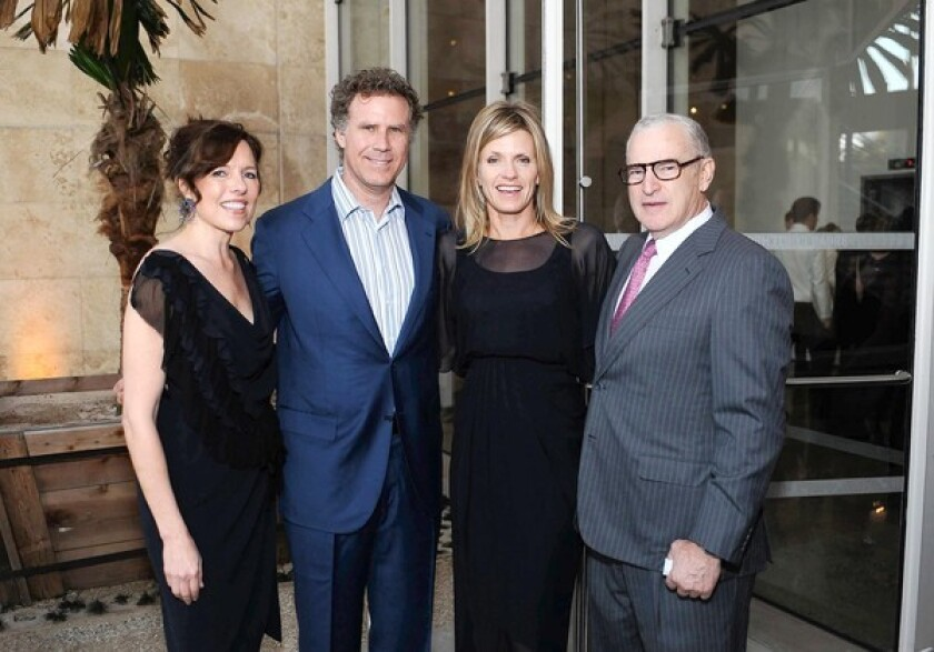 Ann Colgin, left, Will Ferrell, Viveca Paulin-Ferrell and Joe Wender