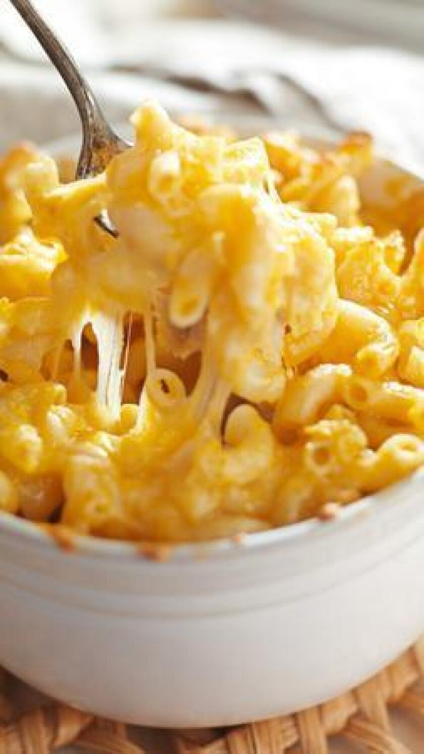 A decadent mac n' cheese dish