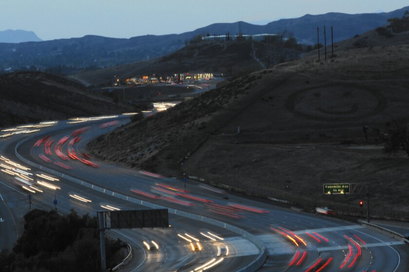 High on Ventura County's wish list of road projects are widenings of Highway 101 and State Route 118, above, better known as the Ronald Reagan Freeway.