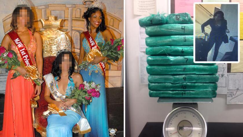Un video en LAX muestra el bolso con drogas que cargaba Marsha Gay Reynolds.