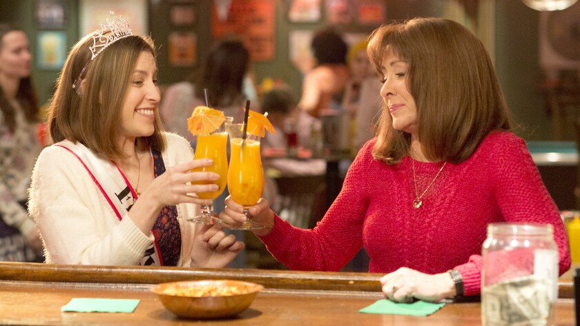 "On Sue's (Eden Sher, left) 21st birthday, Frankie (Patritia Heaton) takes her to a bar to celebrate in a new episode of the final season of the family comedy ""The Middle"" on ABC."