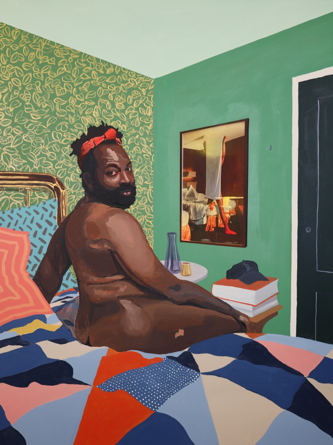 Corey Pemberton, Maurice, 2021. Acrylic, inkjet prints, and graphite on canvas. 36 in. x 48 in.