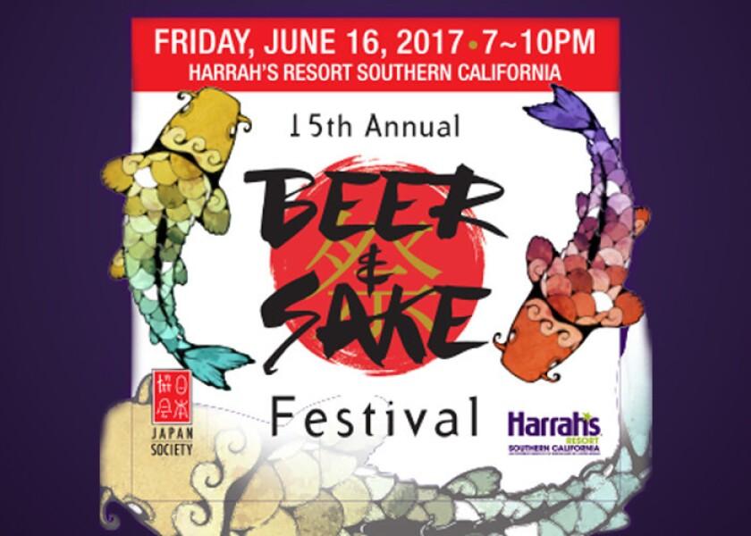 The 2017 Beer and Sake Festival will return on Friday, June 16 at Harrah's Resort SoCal. (Courtesy photo)
