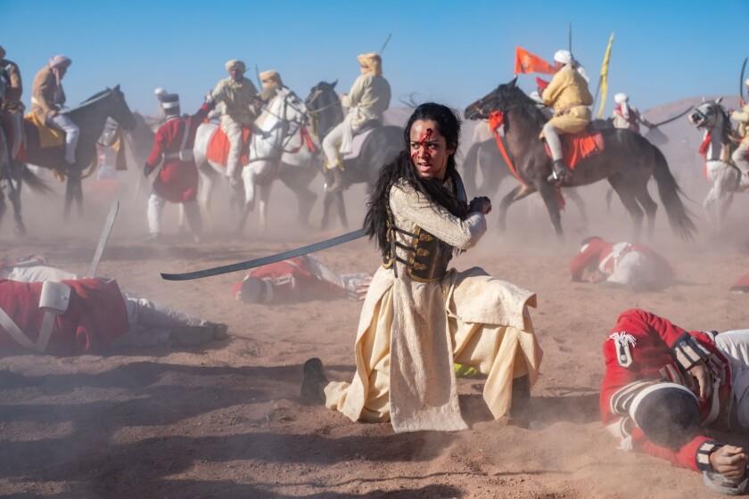 Devika Bhise in the movie 'The Warrior Queen of Jhansi'