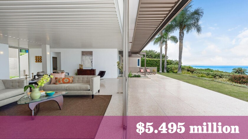The Richard Neutra-designed Hees House in Pacific Palisades sold last week for $5.495 million, making it one of the most expensive sales in the greater Los Angeles area last week.