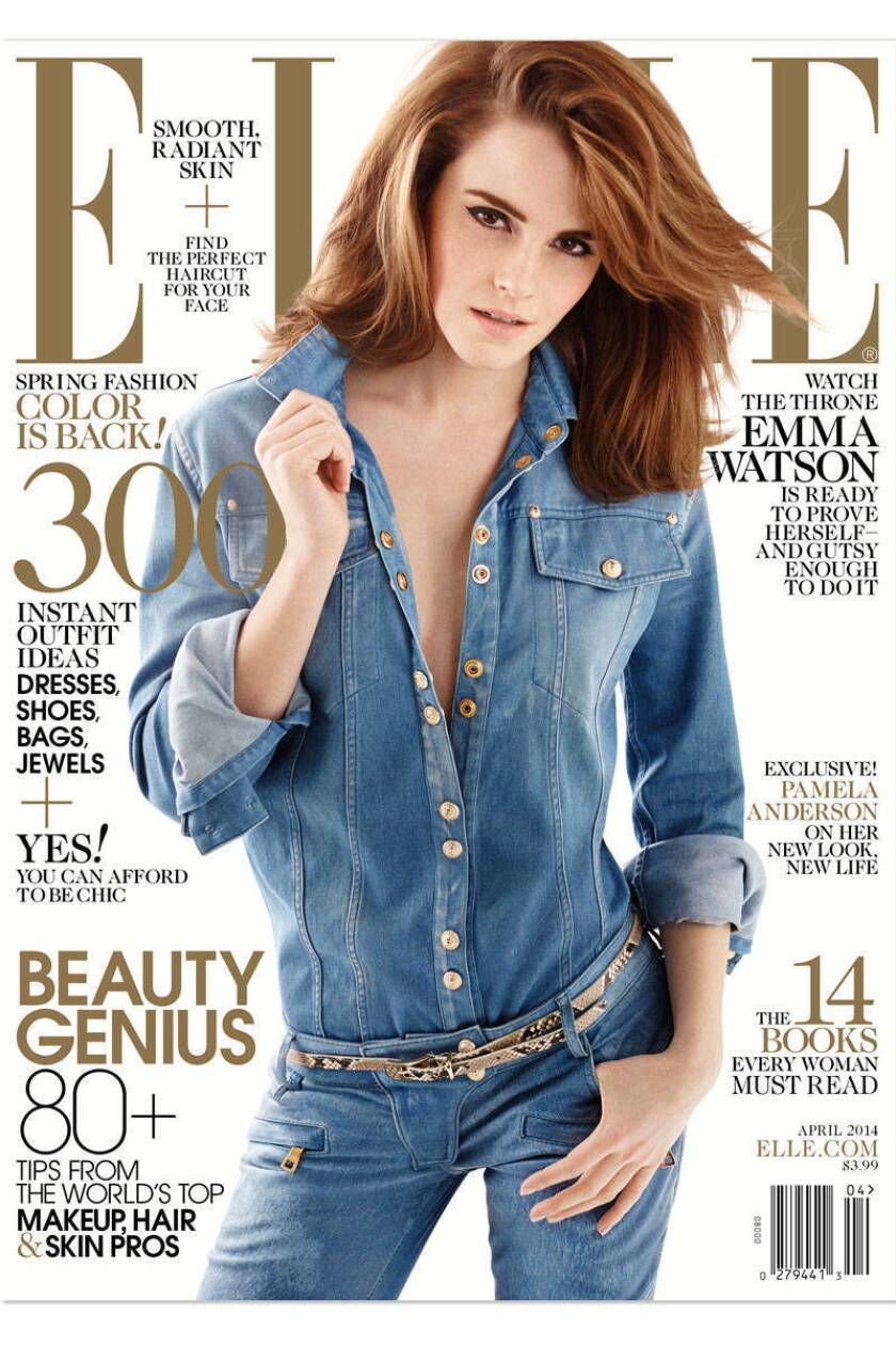 Emma Watson on the April 2014 cover of Elle