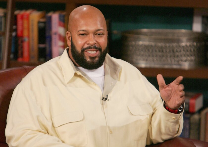 """Music producer Marion """"Suge"""" Knight, shown in 2004, was shot early Sunday morning in a West Hollywood nightclub, a law enforcement source said."""