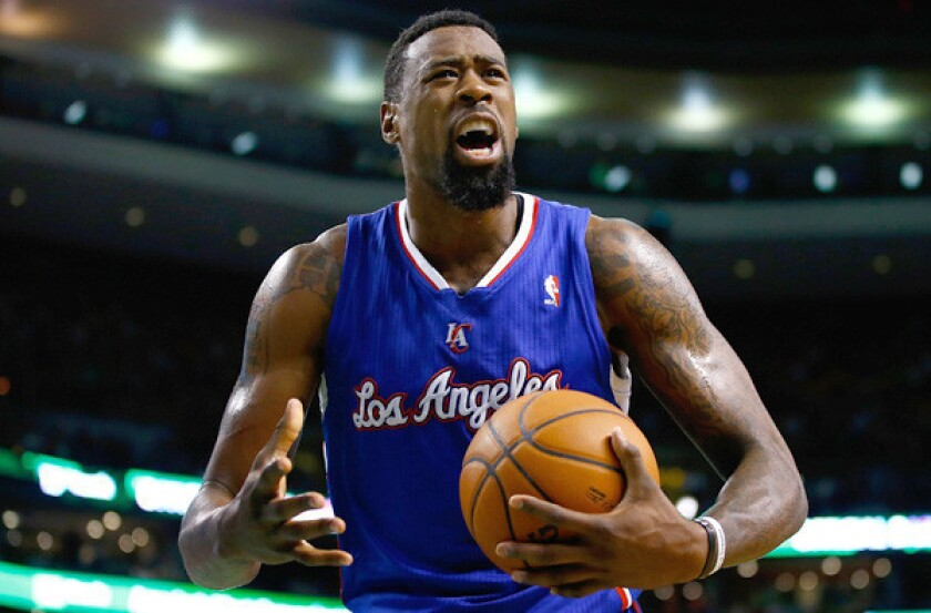Clippers center DeAndre Jordan entered play Sunday night ranked third in the NBA in rebounding at 13.0 a game and fourth in blocked shots at 2.2.
