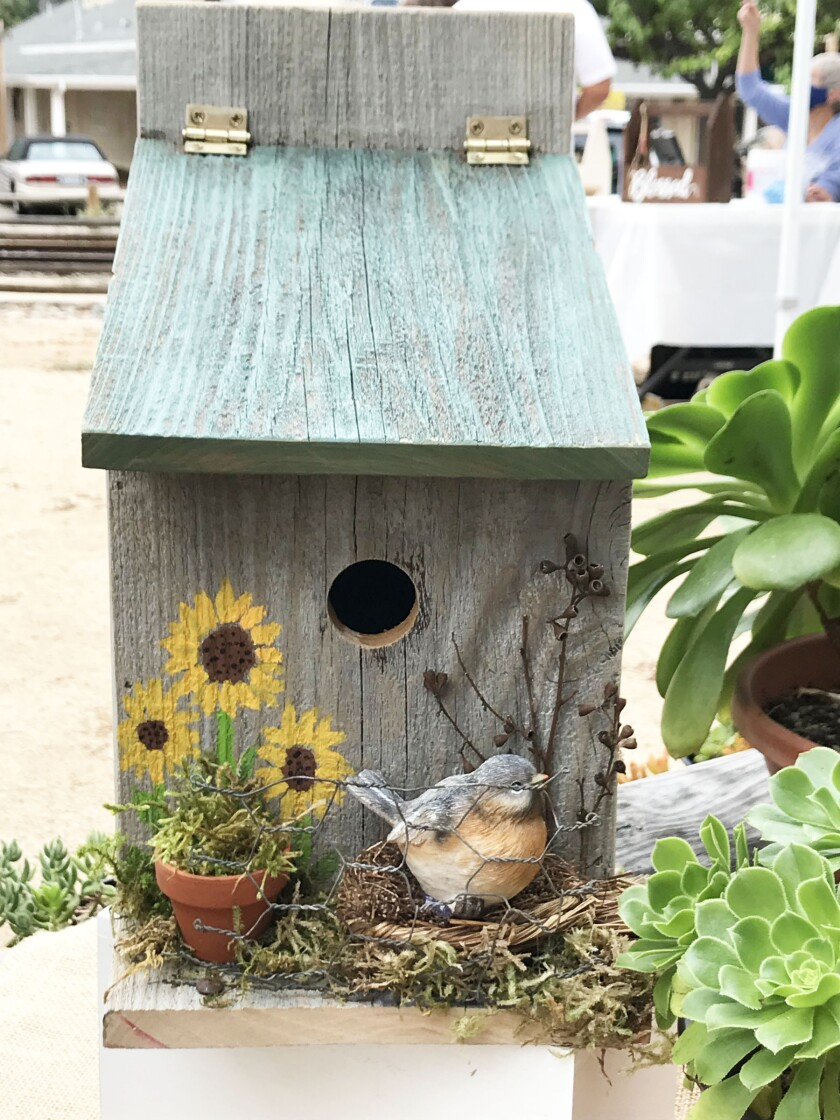 Birdhouses will be among the items sold at the Poway Valley Garden Club's plant sale.