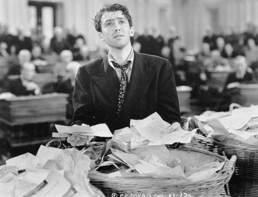 "James Stewart in the 1939 classic ""Mr. Smith Goes to Washington."""