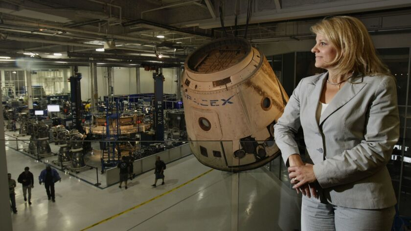 HAWTHORNE, CALIF. - MAY 29, 2013: Gwynne Shotwell, President and Chief Operating Officer of SpaceX