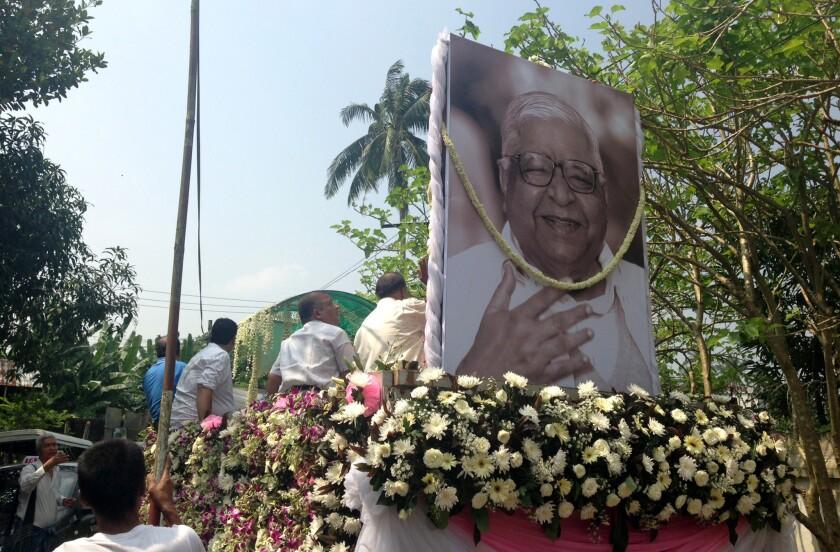 S.N. Goenka funeral