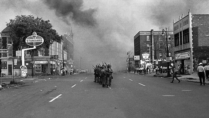 The National Guard arrives on 12th Street in Detroit on the morning of July 23, 1967.
