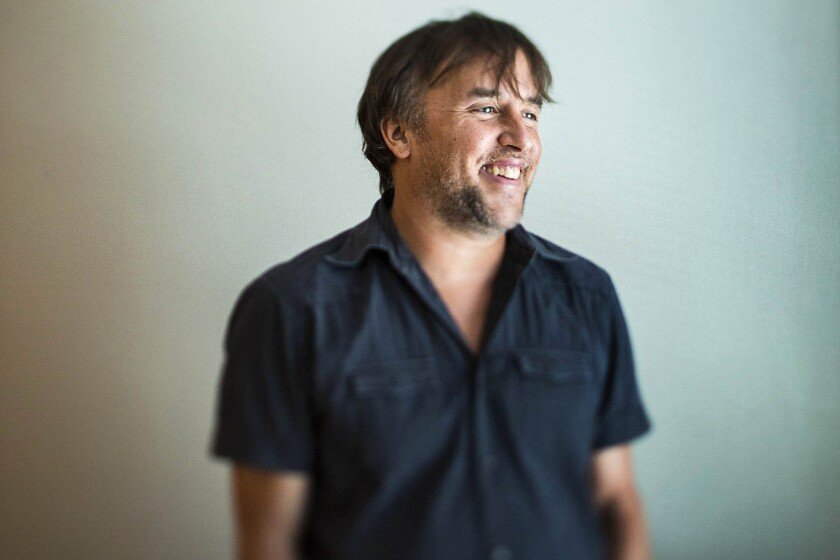 Film director Richard Linklater at the SLS Hotel in Los Angeles.