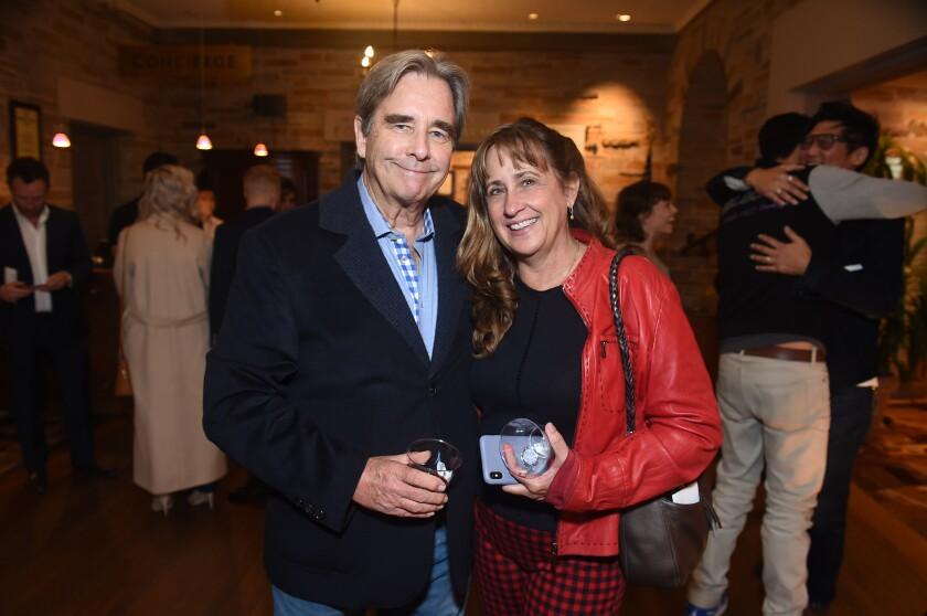 "Beau Bridges, left, and Wendy Treece Bridges at the opening-night party for ""Key Largo."""