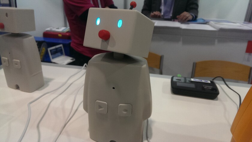 Bocco is a messaging robot created by Yukai Engineering of Tokyo.