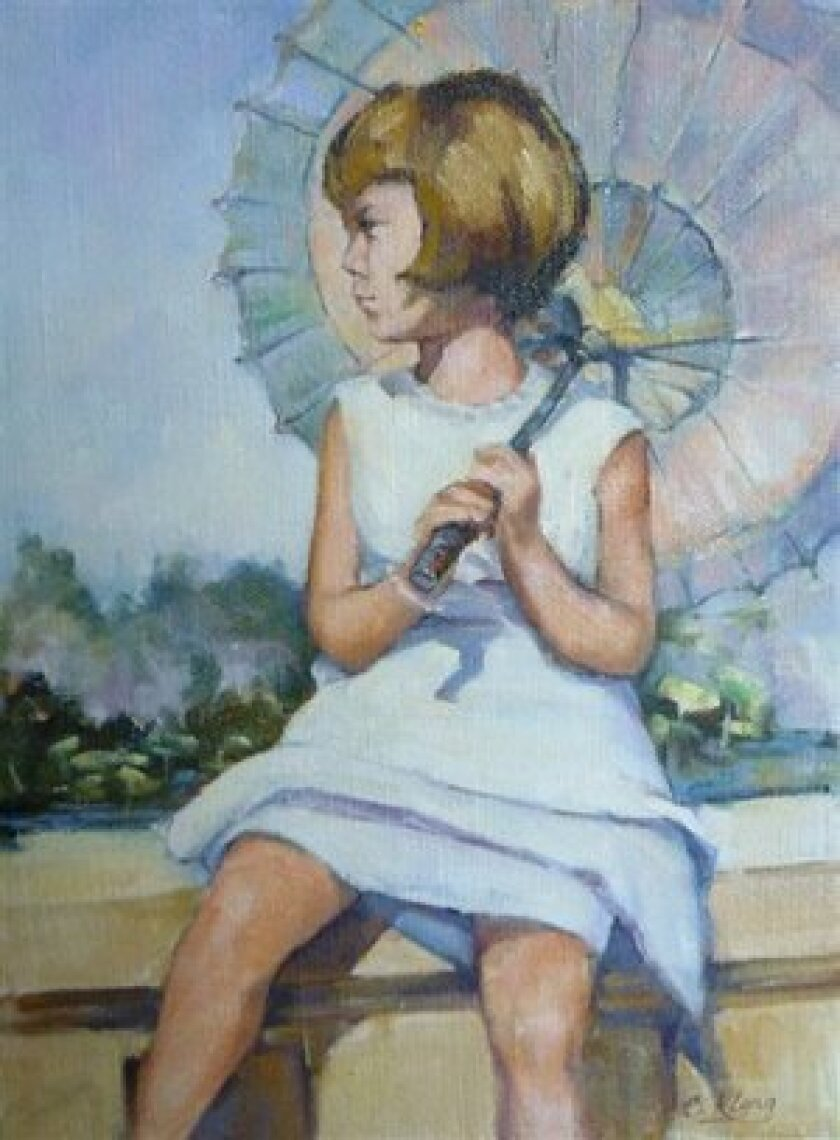 Girl With An Umbrella by Cindy Klong