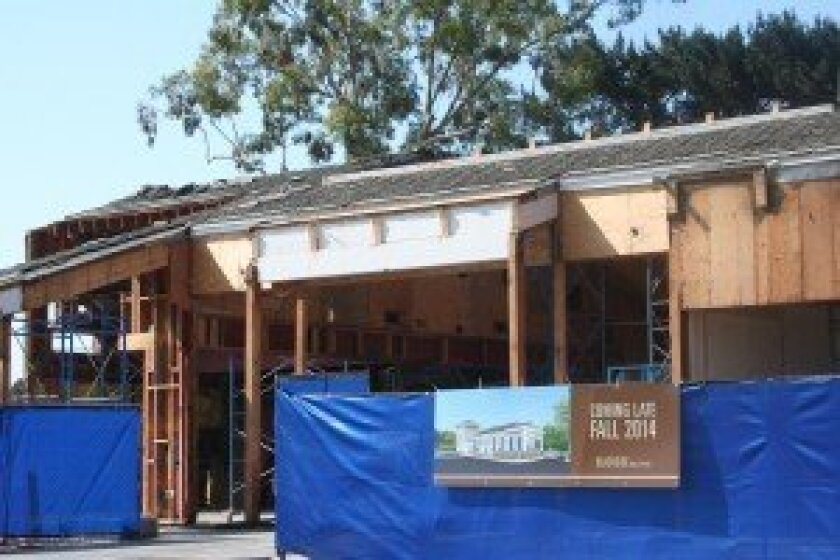 With four spaces available at Beachside Del Mar, the shopping center's owner is currently in negotiations with potential tenants as construction crews renovate the space. Photo by Kristina Houck