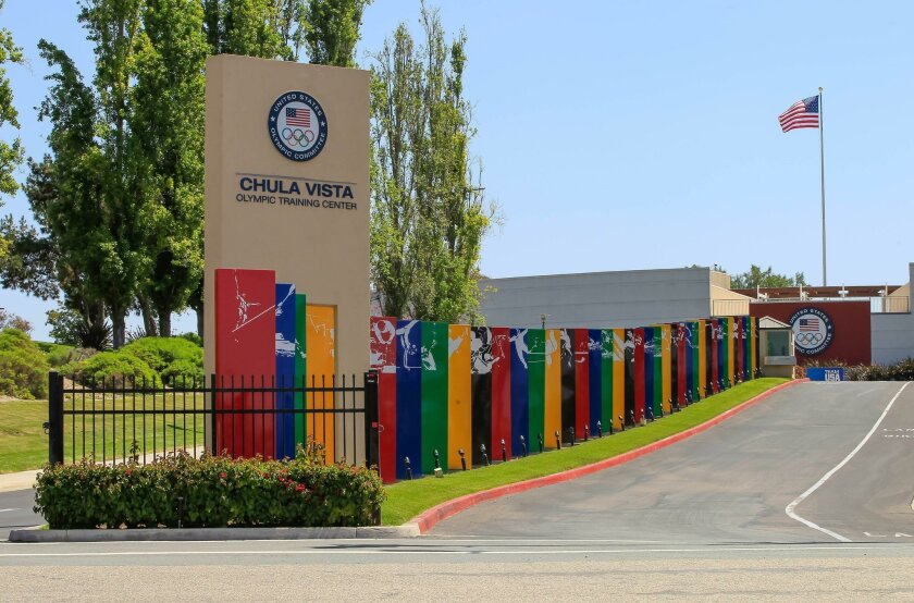 This is the entrance to the Chula Vista Olympic Training Center on Friday in Chula Vista, California.