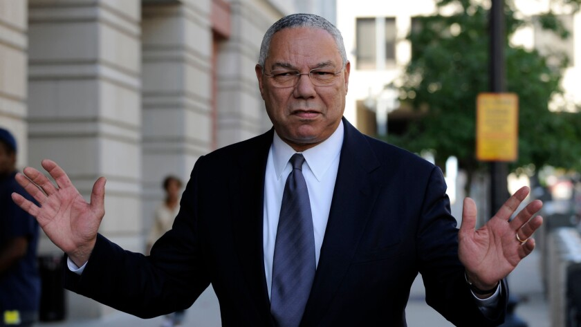 Former Secretary of State Colin Powell in Washington in 2008.