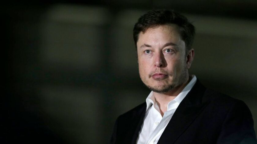 Tesla CEO Elon Musk is seen in June 2018.
