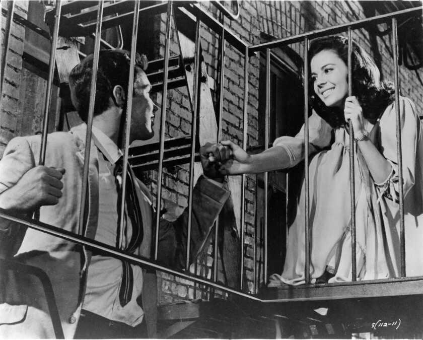 "Natalie Wood, right, and Richard Beymer in ""West Side Story."""
