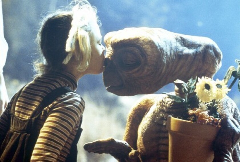 A scene from 'E.T. the Extra-Terrestrial.' The film's casting director, Mike Fenton, recently died at age 85.