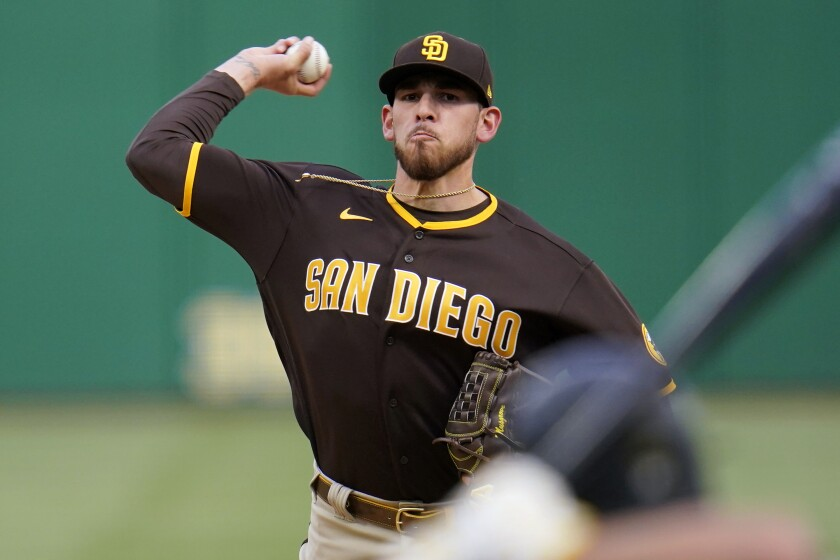 Joe Musgrove pitches Wednesday against the Pittsburgh Pirates.