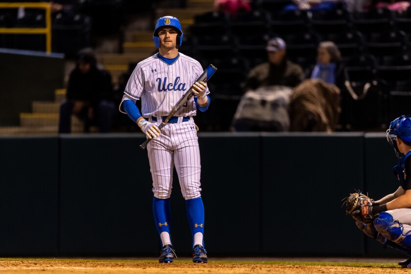 UCLA baseball player Garrett Mitchell was selected 20th overall by the Milwaukee Brewers in the MLB Draft.