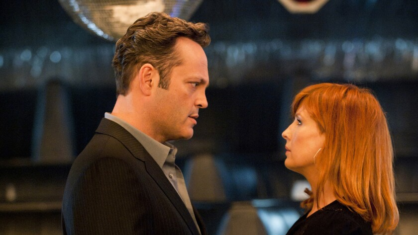 "Vince Vaughn enters Season 2 of ""True Detective."" With him is Kelly Reilly."